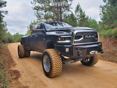 """2012 Ram 3500 - 22x14 -76mm - American Force Independence Ss - Suspension Lift 12"""" - 40"""" x15.5"""""""