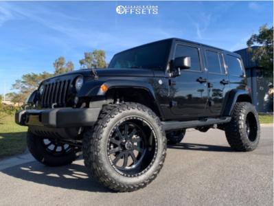 "2018 Jeep Wrangler JK - 22x12 -44mm - American Force Octane - Suspension Lift 4.5"" - 37"" x 13.5"""
