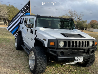 """2003 Hummer H2 - 22x14 -76mm - Fuel Forged Ff29 - Leveling Kit - 35"""" x 13.5"""""""