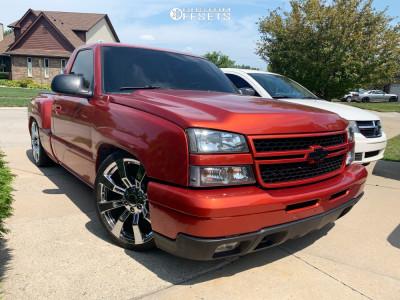 2006 Chevrolet Silverado 1500 - 22x9 31mm - Oe Performance 144 - Lowered 5F / 7R - 265/35R22