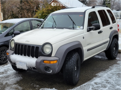 2004 Jeep Liberty - 16x8 0mm - Vision D Window - Stock Suspension - 235/75R16