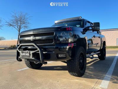"2009 Chevrolet Silverado 1500 - 16x7 42mm - XD Xd820 - Suspension Lift 6"" - 35"" x 12.5"""
