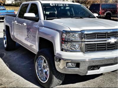 2014 Chevrolet Silverado 1500 - 20x12 -44mm - Dropstars 655c - Leveling Kit - 305/50R20
