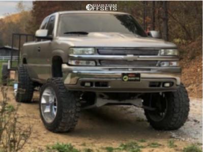 "1999 Chevrolet C1500 - 22x14 -76mm - Tuff T05 - Suspension Lift 6"" & Body 3"" - 37"" x 13.5"""