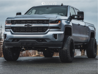 "2016 Chevrolet 1500 - 20x12 -44mm - Motiv Offroad Magnus - Suspension Lift 6.5"" - 35"" x 12.5"""