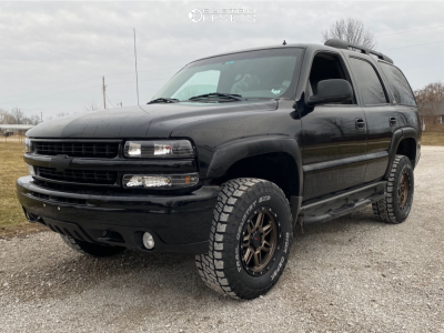 "2002 Chevrolet Tahoe - 17x8.5 -6mm - DX4 Rebel - Suspension Lift 3"" - 285/70R17"