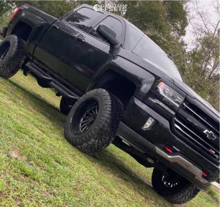 """2017 Chevrolet Silverado 1500 - 20x12 -51mm - ARKON OFF-ROAD Caesar - Suspension Lift 6"""" - 35"""" x 12.5"""""""