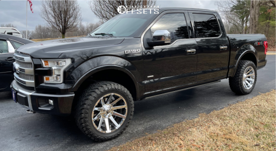 """2015 Ford F-150 - 20x10 -19mm - Fuel Contra - Leveling Kit - 33"""" x 12.5"""""""