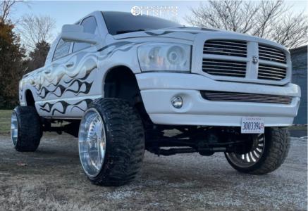 "2006 Dodge Ram 2500 - 26x16 -101mm - American Force Flex Ss - Suspension Lift 6.5"" - 37"" x 13.5"""