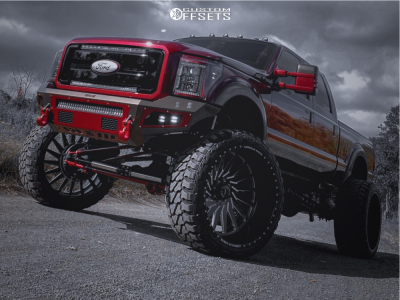 """2015 Ford F-350 Super Duty - 30x16 -112mm - American Force Battery Cc - Suspension Lift 10"""" - 42"""" x 16.5"""""""