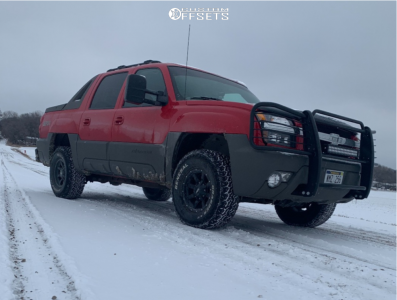 """2002 Chevrolet Avalanche 1500 - 16x8 0mm - Moto Metal Mo970 - Leveling Kit - 33"""" x 12.5"""""""