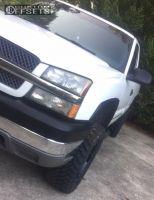 2003 Chevrolet Silverado 2500 HD - 20x9 0mm - Moto Metal Mo962 - Leveling Kit - 265/75R20