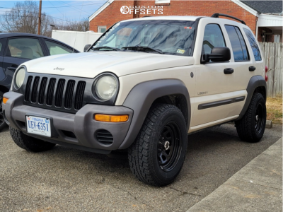 2004 Jeep Liberty - 16x8 0mm - Vision D Window - Stock Suspension - 235/70R16