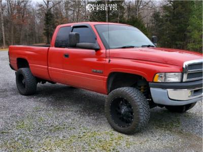 "2001 Dodge Ram 2500 - 20x12 -44mm - XD XD820 - Suspension Lift 3"" - 33"" x 12.5"""