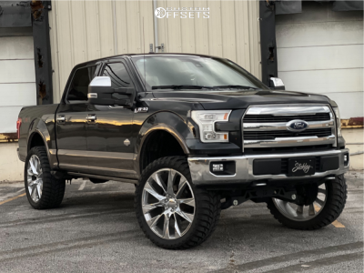 """2015 Ford F-150 - 26x10 30mm - Luxxx Alloys Lux18 - Air Suspension - 37"""" x 12.5"""""""