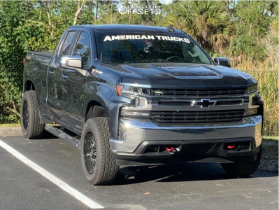 2020 Chevrolet Silverado 1500 - 20x9 -12mm - Panther Offroad 580 - Leveling Kit - 275/60R20
