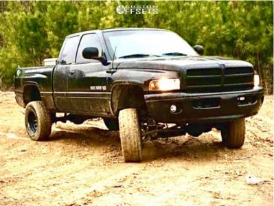 "1999 Dodge Ram 1500 - 16x8 -12mm - Vision D Window - Suspension Lift 6"" - 31"" x 10.5"""