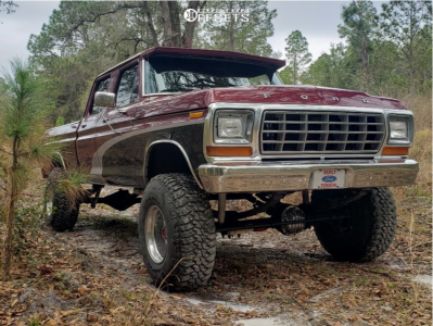 """1978 Ford F-250 - 17x12 -24mm - Eagle Alloy Series 058 - Suspension Lift 6"""" - 37"""" x 12.5"""""""