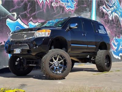 "2013 Nissan Armada - 22x14 -70mm - Fuel Maverick D260 - Lifted >12"" - 38"" x 15.5"""