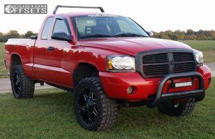 Dakota Dodge Leveling Kit Body Lift Monster Energy Bm Black Slightly Aggressive on 2004 Dodge Dakota Slt Tire Size