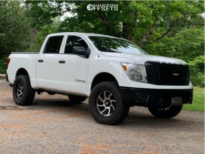 "2019 Nissan Titan - 20x10 -25mm - XD Surge - Suspension Lift 3"" - 305/55R20"