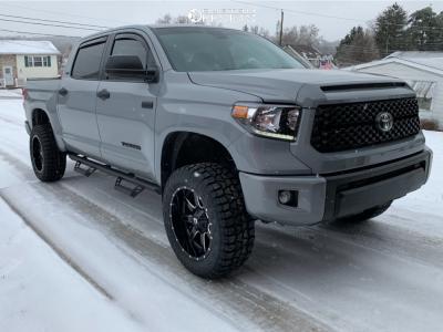 "2021 Toyota Tundra - 20x10 -18mm - Fuel Maverick - Suspension Lift 4"" - 33"" x 12.5"""