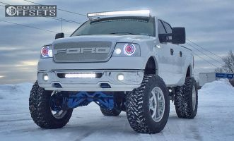 """2007 Ford F-150 - 22x12 -40mm - American Force Evade - Lifted >9"""" - 40"""" x 15.5"""""""