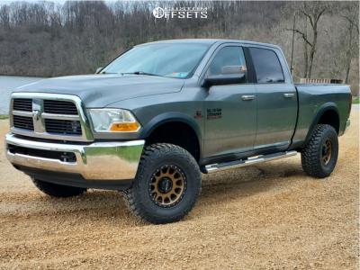 "2010 Dodge Ram 2500 - 17x8.5 0mm - Method MR305 - Suspension Lift 3"" - 35"" x 35"""