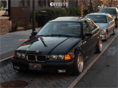 1996 BMW 328i - 17x10 25mm - JNC Jnc004 - Coilovers - 225/35R17
