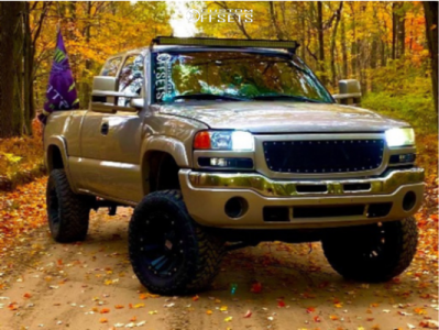 "2004 GMC Sierra 1500 Classic - 18x10 -24mm - XD XD822 Monster - Suspension Lift 6"" - 33"" x 12.5"""