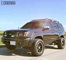 2001 Nissan Xterra - 16x8 0mm - Helo He791 - Stock Suspension - 245/75R16