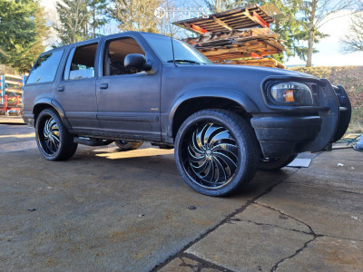 "1998 Ford Explorer - 24x9 25mm - DUB Cojones - Stock Suspension - 32"" x 11.5"""