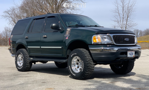 2001 Ford Expedition - 16x10 -38mm - Ion Alloy 171 - Leveling Kit - 305/70R16
