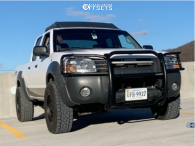 2002 Nissan Frontier - 16x8 0mm - Vision Turbine 353 - Leveling Kit - 275/65R16