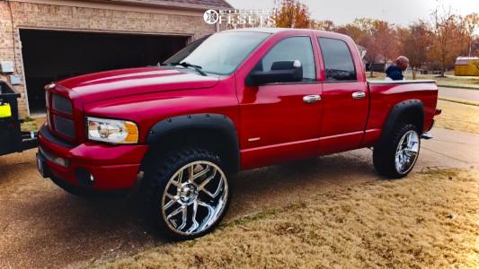 """2005 Dodge Ram 1500 - 24x12 -12mm - Vision Sliver 360 - Suspension Lift 4.5"""" - 33"""" x 12.5"""""""