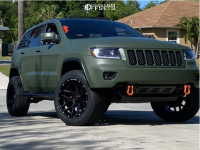 """2011 Jeep Grand Cherokee - 20x10 -12mm - Wicked Offroad W903 - Suspension Lift 3"""" - 275/55R20"""
