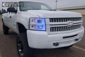 "2008 Chevrolet Silverado 2500 HD - 20x9 12mm - Incubus Crusher - Suspension Lift 8"" - 35"" x 12.5"""