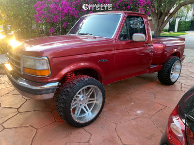 """1993 Ford F-150 - 22x12 -44mm - Axe Offroad AX3.1 - Suspension Lift 4"""" - 33"""" x 12.5"""""""