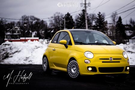 2012 Fiat 500 - 17x7.5 35mm - Fifteen52 Integrale - Lowering Springs - 205/40R17