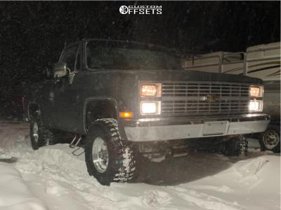 "1984 Chevrolet K10 Pickup - 15x10 -44mm - American Racing AR23 - Suspension Lift 3"" - 33"" x 12.5"""