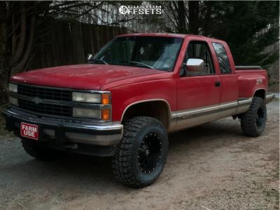 """1993 Chevrolet K1500 - 17x9 -12mm - TIS 549B - Leveling Kit - 33"""" x 11.5"""""""