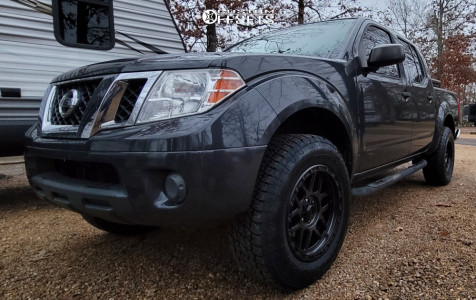 2012 Nissan Frontier - 18x9 18mm - KMC Km544 - Leveling Kit - 265/65R18