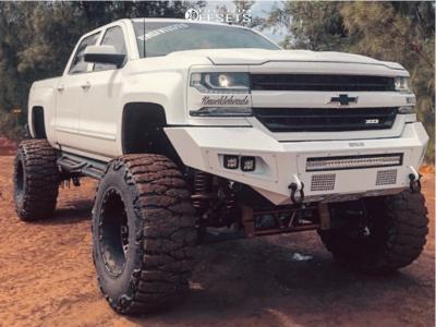 "2018 Chevrolet Silverado 1500 - 20x14 -76mm - XD Hoss 2 - Suspension Lift 12"" - 40"" x 15.5"""