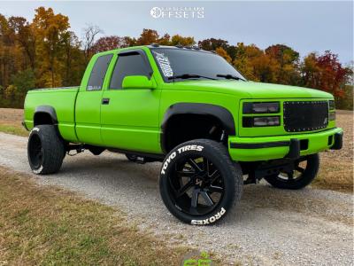 "1997 Chevrolet K2500 - 22x12 -51mm - ARKON OFF-ROAD Lincoln - Suspension Lift 4"" - 305/45R22"