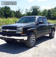 2003 Chevrolet Silverado 1500 - 20x9 -12mm - Ballistic Jester - Stock Suspension - 275/60R20