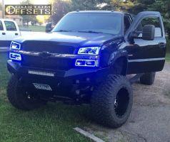 """2004 Chevrolet Silverado 2500 HD - 20x14 -76mm - Xd Riot - Lifted >9"""" - 38"""" x 15.5"""""""