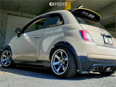 2012 Fiat 500 - 16x8.25 25mm - Jnc Jnc014 - Stock Suspension - 205/45R16