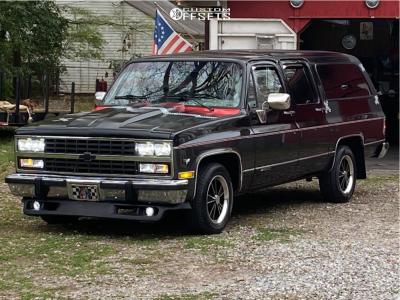 "1991 Chevrolet R1500 Suburban - 17x8 0mm - Vision Dazzler - Stock Suspension - 27"" x 10.5"""