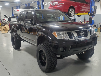 """2019 Nissan Frontier - 20x9 -12mm - Panther Offroad 580 - Suspension Lift 6"""" - 35"""" x 12.5"""""""