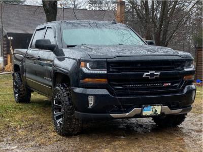 "2016 Chevrolet Silverado 1500 - 20x10 -19mm - Fuel Assault D576 - Leveling Kit - 33"" x 12.5"""